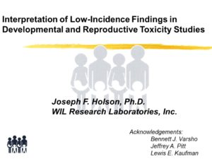 Joseph F. Holson' rare events in developmental and reproductive toxicology lecture (2002 Winter Meeting of the Toxicology Forum)